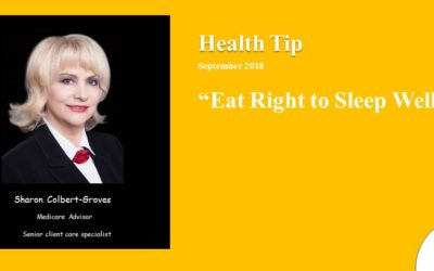Eat right to sleep well 2018